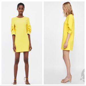 NWT. Zara yellow dress. Size L.